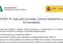 Covid 19. Guía para Escuelas, Centros educativos y Universidades de Andalucía.
